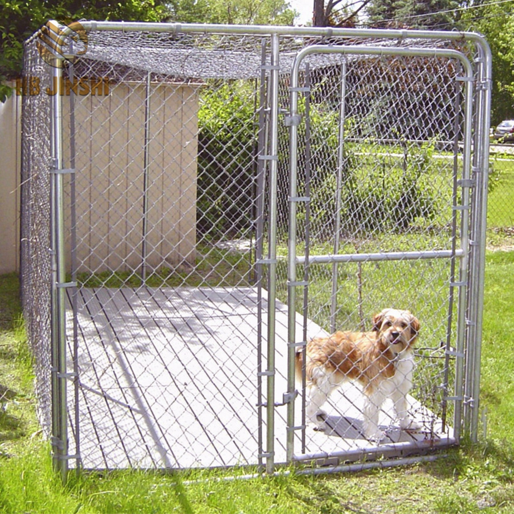 Outdoor-Chain Link Mesh-Metall-Hundehütte